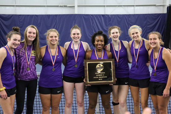 Norfolk Christian Girls Tennis State champs 2018